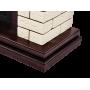 Каминокомплект Bricks 25 камень бежевый, шпон темный дуб