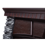 Каминокомплект Porto 25 камень черный, шпон венге