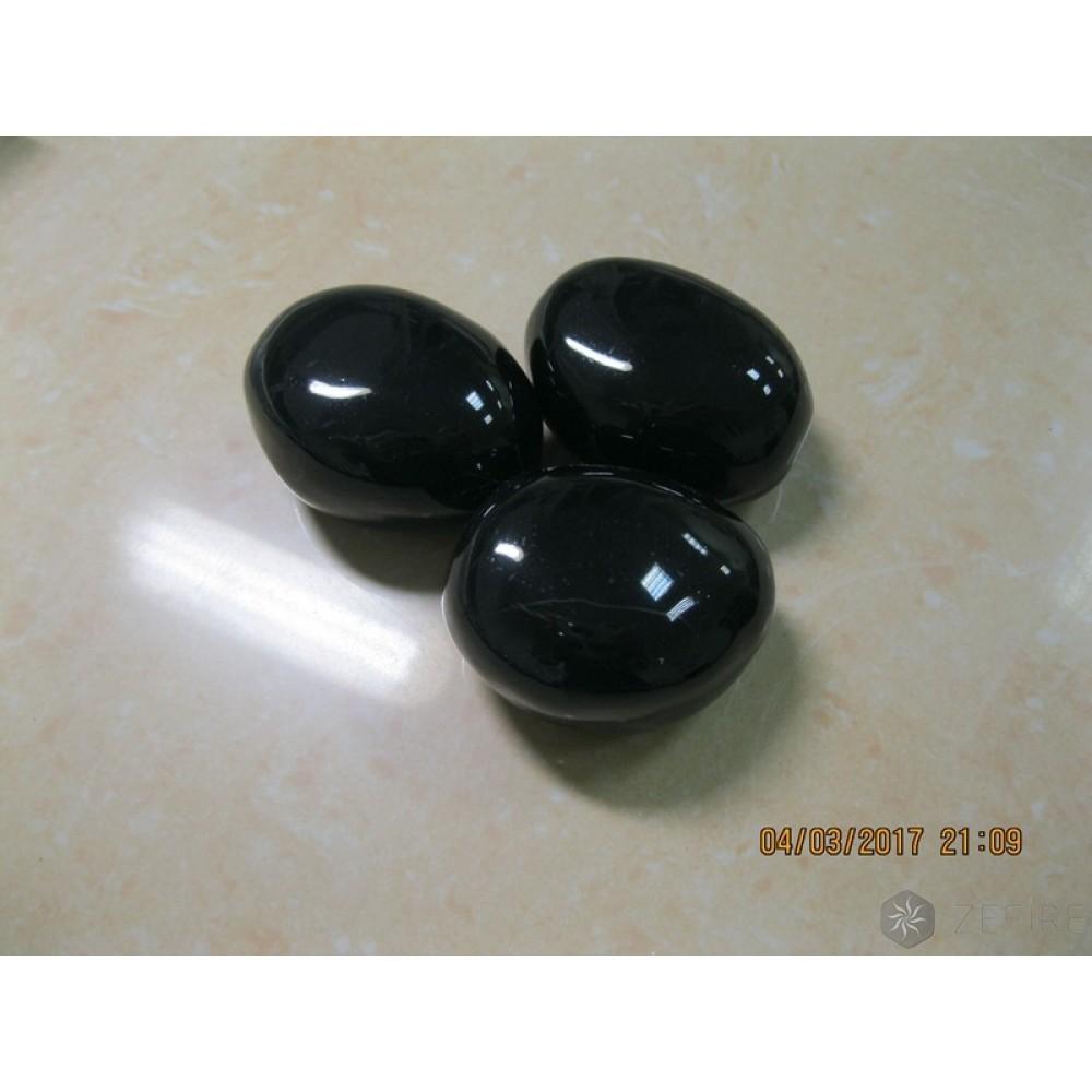 Декоративные керамические камни черные 14 шт