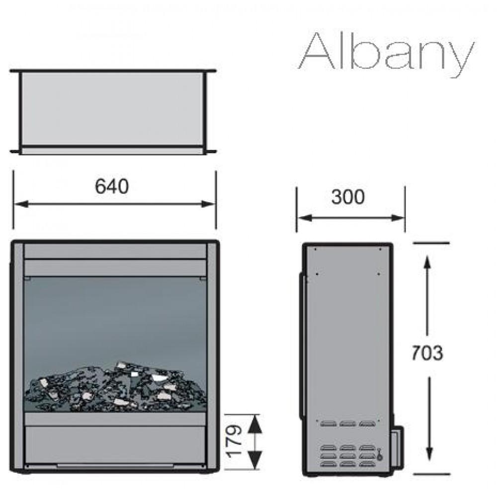 Электрокамин с эффектом живого пламени  Albany